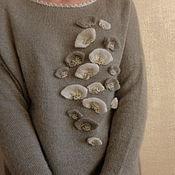 Одежда ручной работы. Ярмарка Мастеров - ручная работа Платье Вдохновиться у природы (полынь). Handmade.