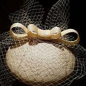 """Свадебный салон ручной работы. Ярмарка Мастеров - ручная работа Шляпка таблетка с вуалью """"Стильная свадьба"""". Handmade."""