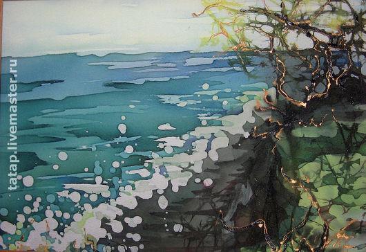 Пейзаж ручной работы. Ярмарка Мастеров - ручная работа. Купить Морской берег. Handmade. Морской пейзаж, море, морская волна