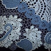 """Одежда ручной работы. Ярмарка Мастеров - ручная работа Вязаная кружевная блузка """"Три оттенка серого. Лён"""". Handmade."""