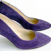 """Обувь ручной работы. Ярмарка Мастеров - ручная работа Туфли """"Сирень"""". Handmade."""