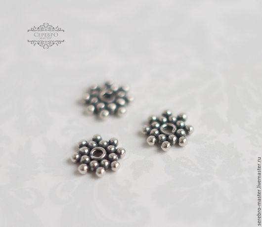 Бусина-разделитель для украшений серебро 925 пробы Диаметр:6мм