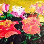 """Картины и панно ручной работы. Ярмарка Мастеров - ручная работа Акварель""""Розовый букет"""". Handmade."""