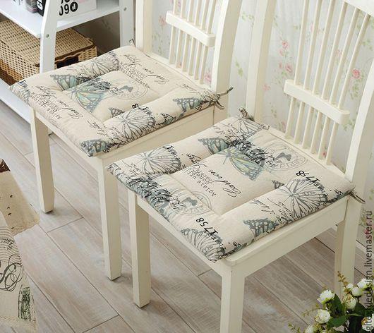 Текстиль, ковры ручной работы. Ярмарка Мастеров - ручная работа. Купить Подушка-галета на сиденье стула. Handmade. Подушка на стул