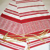 Русский стиль handmade. Livemaster - original item The sacred ritual rushnyk woven handmade. Handmade.