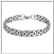 Украшения handmade. Livemaster - original item Men`s steel bracelet no. 23 stainless steel 316L. Handmade.