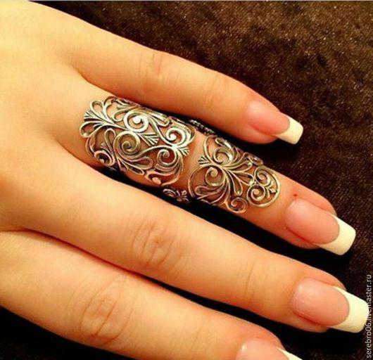 """Кольца ручной работы. Ярмарка Мастеров - ручная работа. Купить кольцо """"Узоры"""" серебро 925. на весь палец. Handmade. Серебряный"""