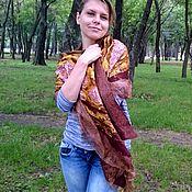 Аксессуары ручной работы. Ярмарка Мастеров - ручная работа шарф нунофелтинг. Handmade.