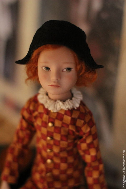 Коллекционные куклы ручной работы. Ярмарка Мастеров - ручная работа. Купить Фарфоровая авторская кукла Арлекин. Handmade. Фарфоровая кукла
