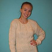 Одежда ручной работы. Ярмарка Мастеров - ручная работа Джемпер женский из собачьей шерсти. Handmade.