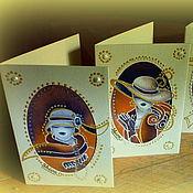 Открытки ручной работы. Ярмарка Мастеров - ручная работа Мини-открытки в технике батик. Handmade.