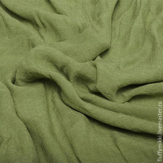 Шитье ручной работы. Ярмарка Мастеров - ручная работа. Купить Хлопок шифон оливковый. Handmade. Ткань, юбка, платье, брюки