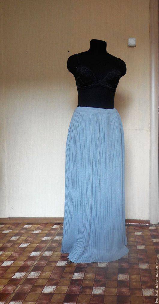 Костюмы ручной работы. Ярмарка Мастеров - ручная работа. Купить плиссированная юбка в пол. Handmade. Серый