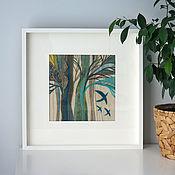 """Картины ручной работы. Ярмарка Мастеров - ручная работа Текстильная картина """"Скоро весна"""". Handmade."""
