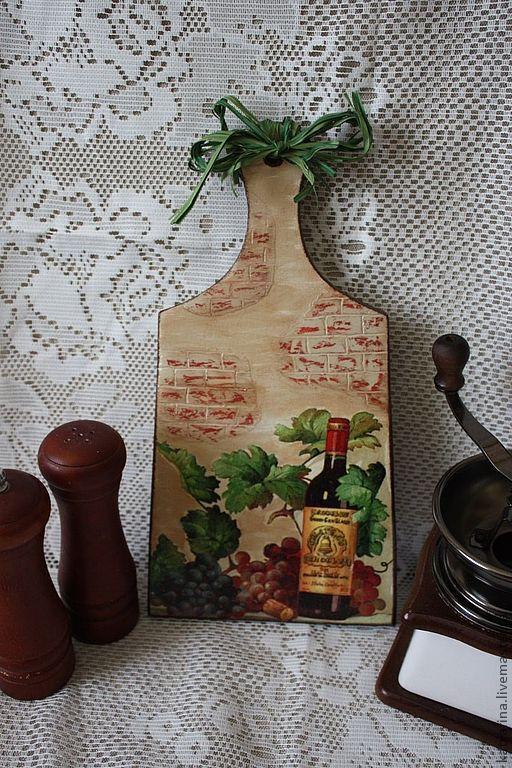 Кухня ручной работы. Ярмарка Мастеров - ручная работа. Купить Доска разделочная в стиле прованс. Handmade. Доска разделочная