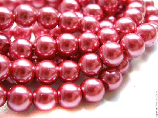 Для украшений ручной работы. Ярмарка Мастеров - ручная работа. Купить Жемчуг стеклянный 8 мм темно-розовый (19660). Handmade.