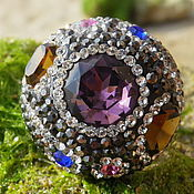 Украшения handmade. Livemaster - original item Cocktail ring with mix of gemstones, Silver 925. Handmade.