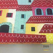 Ткани ручной работы. Ярмарка Мастеров - ручная работа 100% хлопок, Франция, город Монтероссо цветной. Handmade.