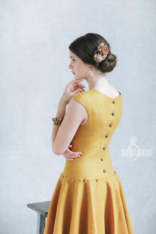 Платья ручной работы. Ярмарка Мастеров - ручная работа. Купить Валяное платье «Cute». Handmade. Street style, город, девушка