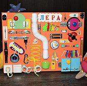 Куклы и игрушки ручной работы. Ярмарка Мастеров - ручная работа Бизиборд №7 с именем. Handmade.