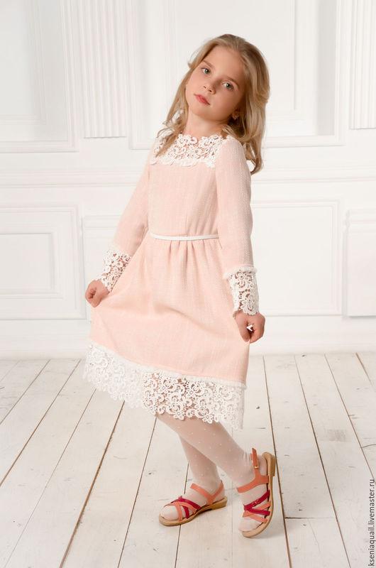 """Одежда для девочек, ручной работы. Ярмарка Мастеров - ручная работа. Купить Платье """"Любавушка"""" для девочки. Handmade. Бледно-розовый"""