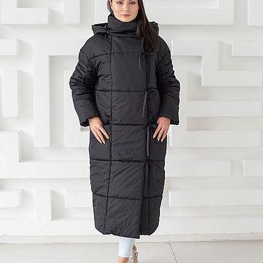 Одежда ручной работы. Ярмарка Мастеров - ручная работа Женское зимнее пальто-пуховик одеяло. Handmade.