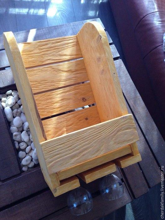 Мебель ручной работы. Ярмарка Мастеров - ручная работа. Купить Винная полка 2/2 бежевая состаренная. Handmade. Полка для кухни