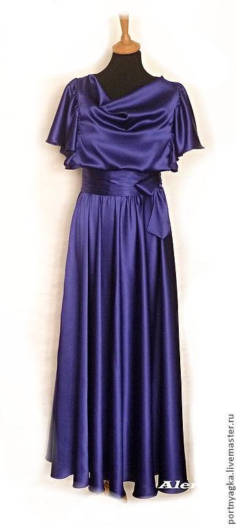 Платья ручной работы. Ярмарка Мастеров - ручная работа. Купить Платье 25 июня. Handmade. Синий, чернильный