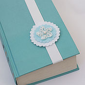Канцелярские товары handmade. Livemaster - original item Bookmark for books from blue felt, tatting souvenir. Handmade.