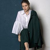 Одежда ручной работы. Ярмарка Мастеров - ручная работа Блузка белая с пышными рукавами. Handmade.