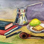 Картины и панно ручной работы. Ярмарка Мастеров - ручная работа Натюрморт с серебряной туркой. Handmade.