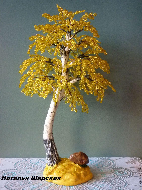 Дерево осень из бисера мастер класс с пошаговым фото