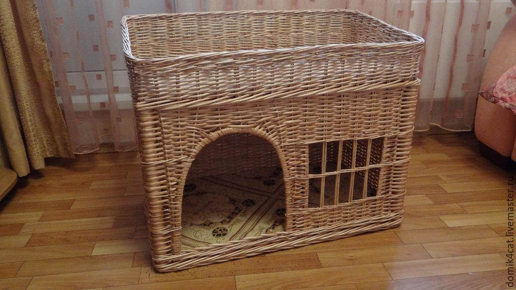 Дом для кота из газетных трубочек своими руками