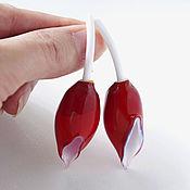"Серьги ""Red tulips"""