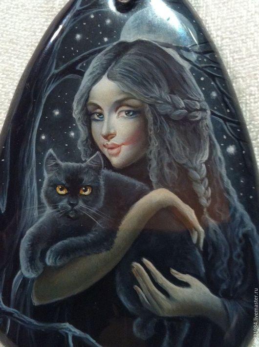 Кулоны, подвески ручной работы. Ярмарка Мастеров - ручная работа. Купить В чувственной тишине.... Handmade. Черная кошка, магия
