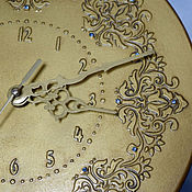 Для дома и интерьера handmade. Livemaster - original item Wall clock Golden river of time. Handmade.