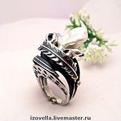 """Кольца ручной работы. Ярмарка Мастеров - ручная работа Кольцо """"Морская дева"""" - натуральный жемчуг, серебро. Handmade."""