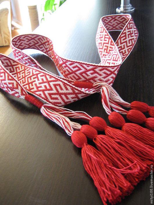 """Одежда ручной работы. Ярмарка Мастеров - ручная работа. Купить Пояс """"Одолень трава и Инглия"""" красный. Handmade. Ярко-красный"""