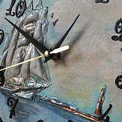 """Часы классические ручной работы. Ярмарка Мастеров - ручная работа Часы """"За штурвалом"""". Handmade."""