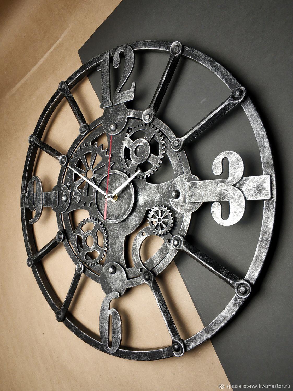Кованые дизайнерские часы в интерьер, Часы классические, Санкт-Петербург,  Фото №1