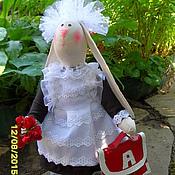 Куклы и игрушки ручной работы. Ярмарка Мастеров - ручная работа заяц-первоклашка. Handmade.