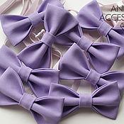 Аксессуары handmade. Livemaster - original item Bow tie for groom`s friends purple lavender. Handmade.