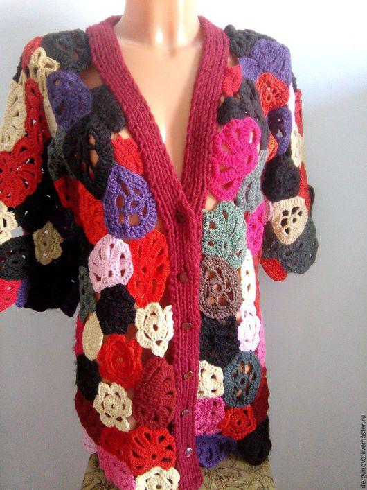 Кофты и свитера ручной работы. Ярмарка Мастеров - ручная работа. Купить Кардиган. Handmade. Комбинированный, женская одежда