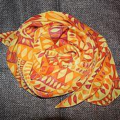Аксессуары ручной работы. Ярмарка Мастеров - ручная работа Шарф шелковый Солнечный. Handmade.
