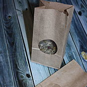 Материалы для творчества handmade. Livemaster - original item Packaging bag with window Kraft. Handmade.