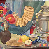 Картины и панно ручной работы. Ярмарка Мастеров - ручная работа Маковое застолье. Handmade.
