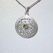 Украшения handmade. Livemaster - original item Silver pendant with sanctuary. Handmade.