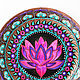 'Lotus Deluxe' decorative plate. Plates. Art by Tanya Shest. My Livemaster. Фото №4