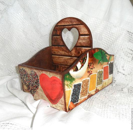 Полки для специй ручной работы. Ярмарка Мастеров - ручная работа. Купить Короб для специй Любовь к специям. Handmade. Короб для кухни