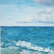 Картины и панно ручной работы. Ярмарка Мастеров - ручная работа Пейзаж Волна. Handmade.